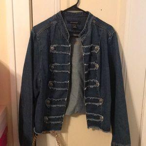Denim military style jacket